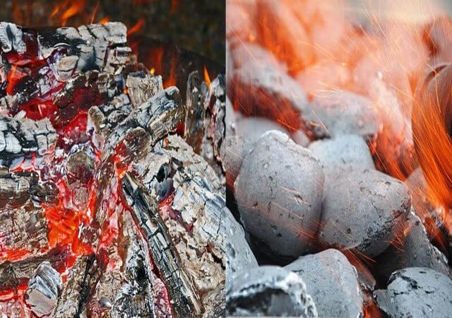 charcoal lumps and briquettes